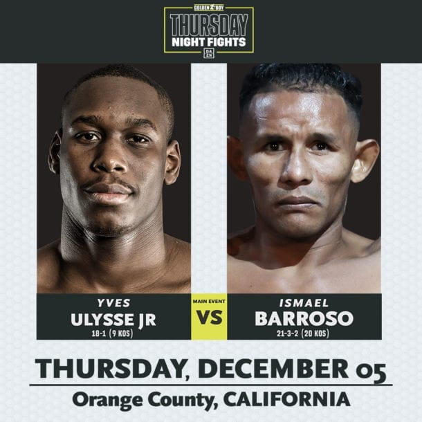 ULYSSE JR. vs BARROSO & BALLARD vs FALCAO TITLE FIGHTS ON 12/5 FCOC